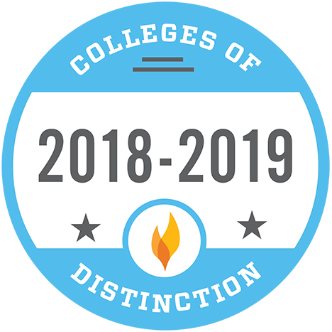 Colleges of Distinction 2018-19 badge