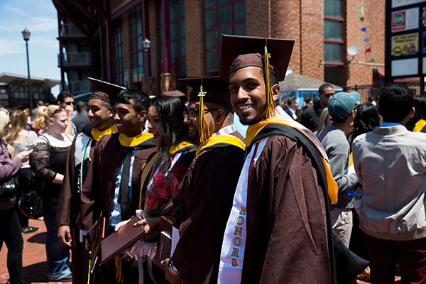 Graduation day at Adelphi University