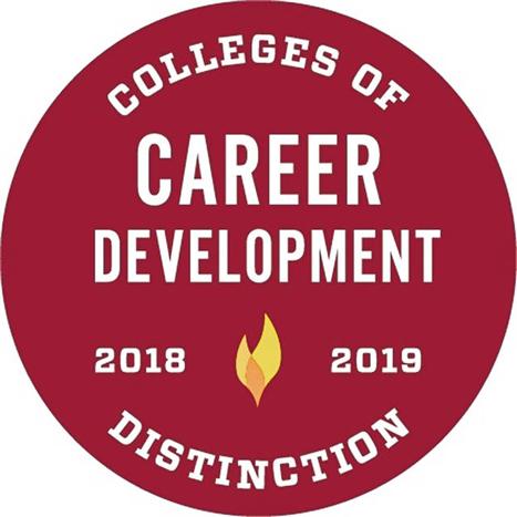 Colleges of Distinction Career Development 2018-19 badge