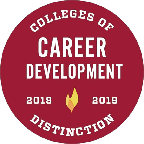 Colleges of Distinction Career Development 2018-19 badge